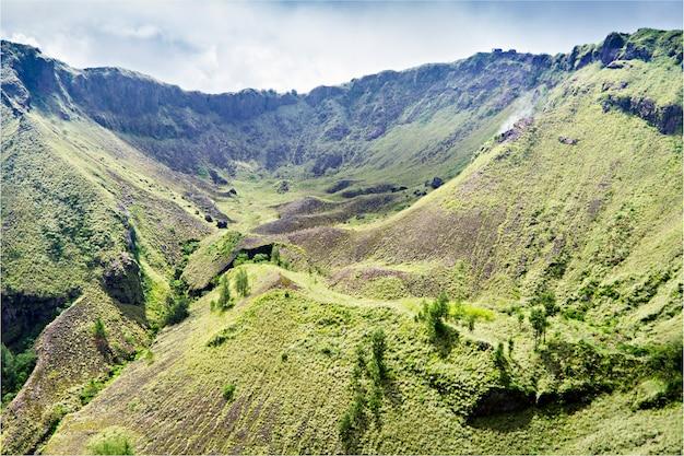 All'interno del vulcano batur