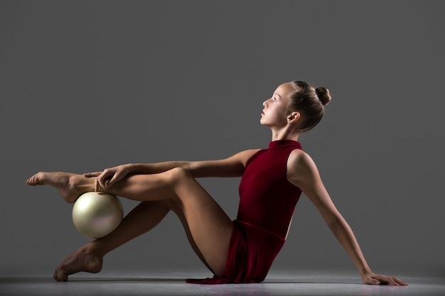 Allenamento di ginnastica con palla