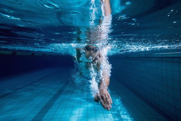 Allenati nuotando da solo