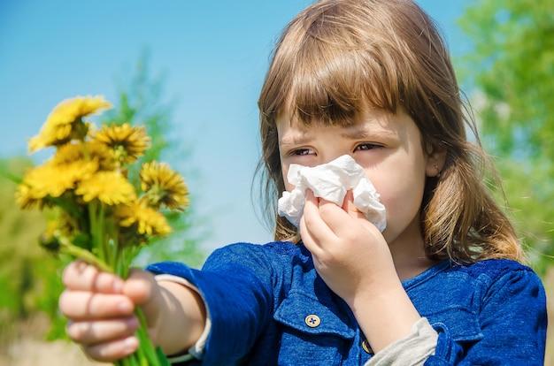 Allergia stagionale in un bambino