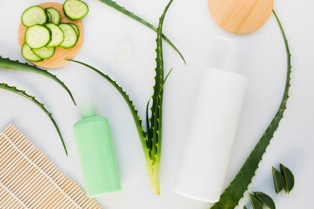 Aloe vera e cetriolo con crema di bellezza