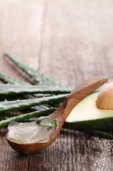 Aloe vera per il concetto di cura della pelle