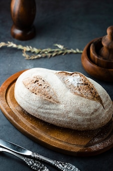 Alto angolo di un pane su un elicottero