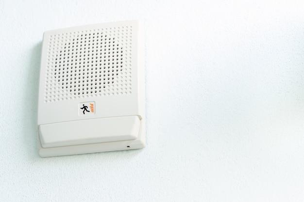 Altoparlante di emergenza antincendio per allarme sirena e annuncio a parete, equipaggiamento di sicurezza in ufficio interno