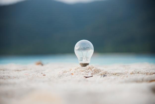 Ambiente energetico lampada e spiaggia per le tue idee