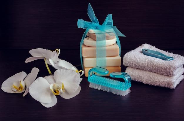 Ambiente termale con saponi naturali