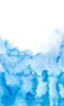 Ambiti di provenienza blu astratti dell'acquerello, pittura della mano su carta.