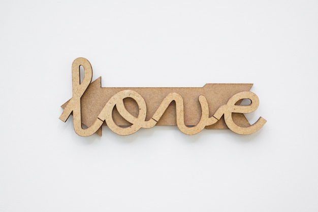 Amo scrivere sulla freccia di legno