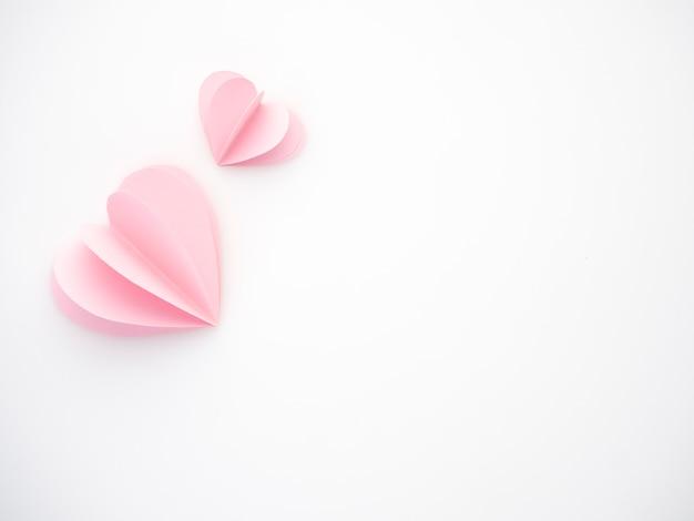 Amore creativo cuori di carta rosa