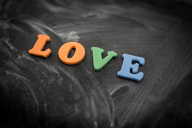 Amore cuore a bordo della scuola