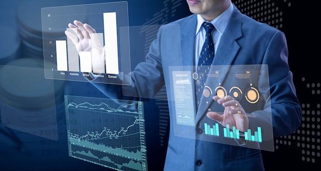 Analisi del rischio di investimento aziendale futuristico