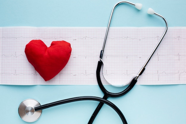 Analisi e stetoscopio a impulsi medici