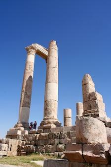 Ancient jerash, rovine della città greco-romana di gera in giordania