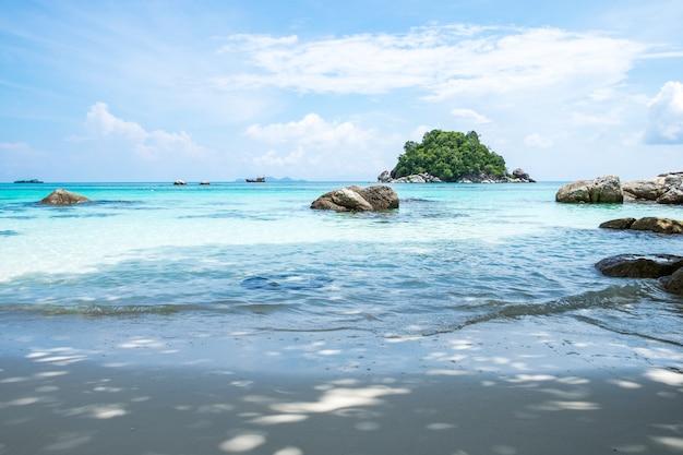 Andaman cristallo mare spiaggia di sabbia bianca