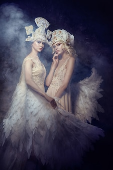 Angel nymph fairy art immagini donne. ali d'angelo