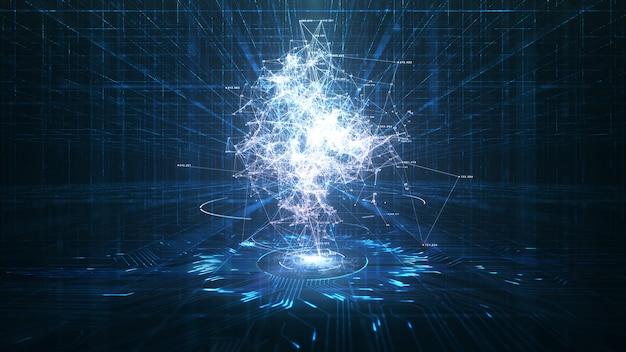 Animazione di intelligenza artificiale e big data