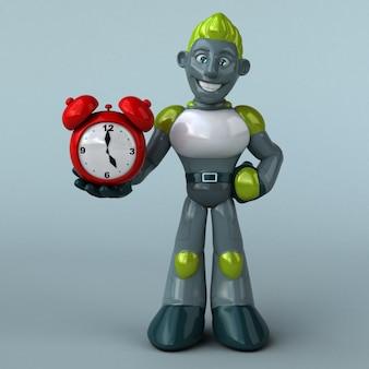 Animazione di robot verde