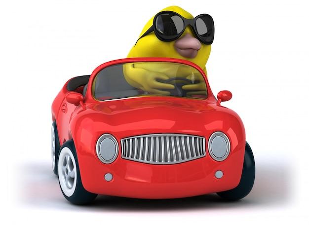 Animazione di uccelli gialli