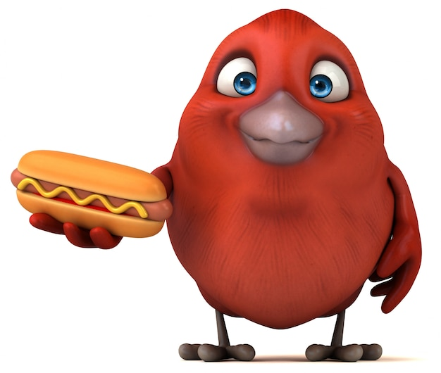 Animazione di uccelli rossi