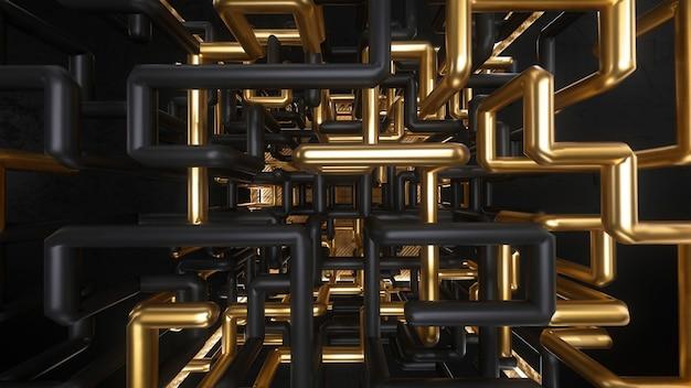 Animazione labirinto oro e nero