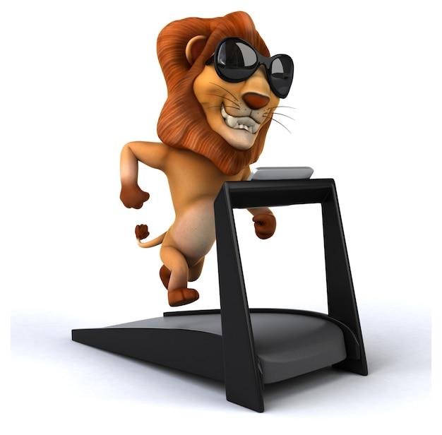 Animazione leone divertente