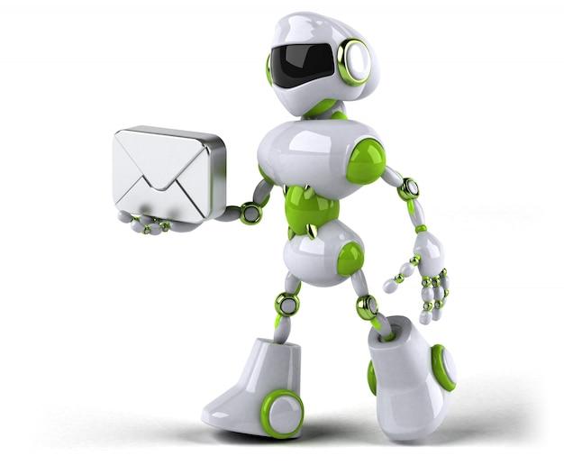 Animazione robot verde