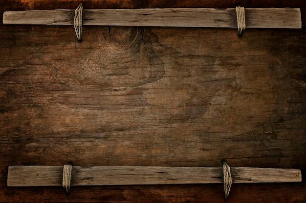 Annuncio legno con spazio libero