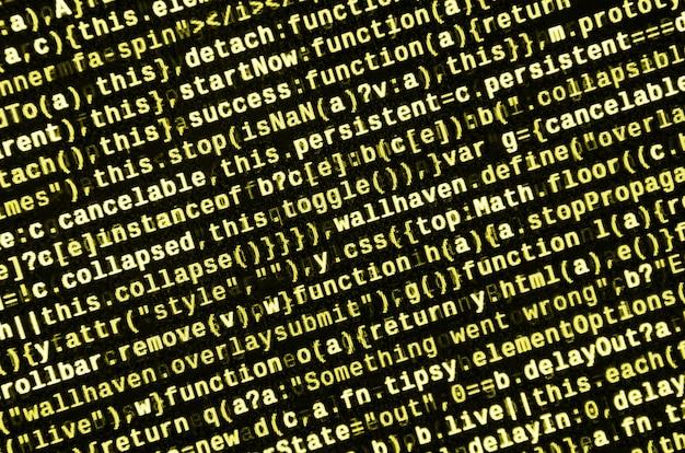 Anteprima del programma per computer.