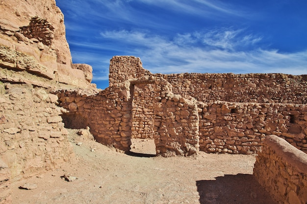 Antica fortezza nel deserto del sahara