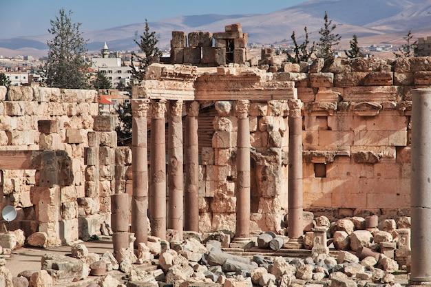 Antiche rovine di baalbek, in libano