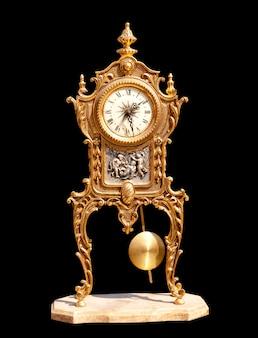 Antico orologio a pendolo vintage in ottone