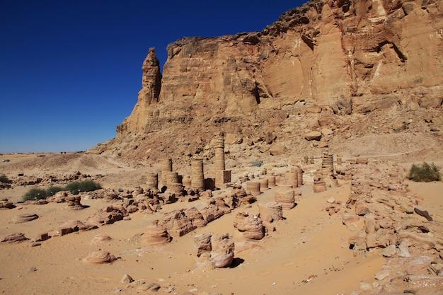 Antico tempio del faraone a jebel barkal, sudan