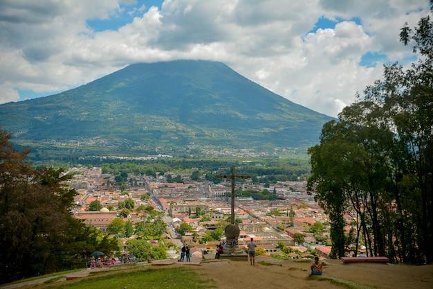 Antigua guatemala vista, vulcano