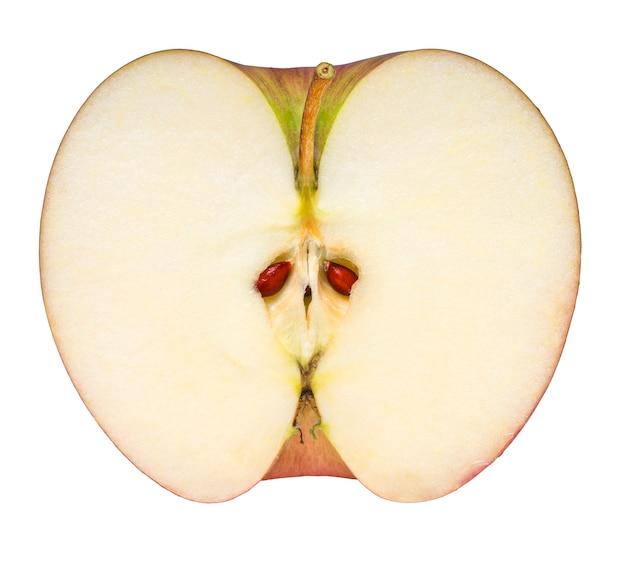 Aomori apple isolati su sfondo bianco, rosso giapponese san-fuji apple (con tracciato di ritaglio)