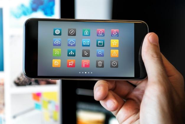 App su schermo
