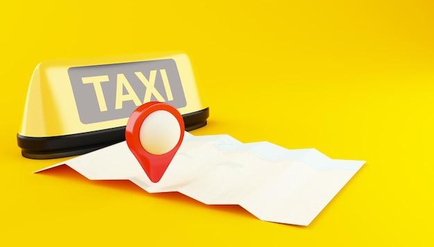 Applicazione 3d per il taxi online.