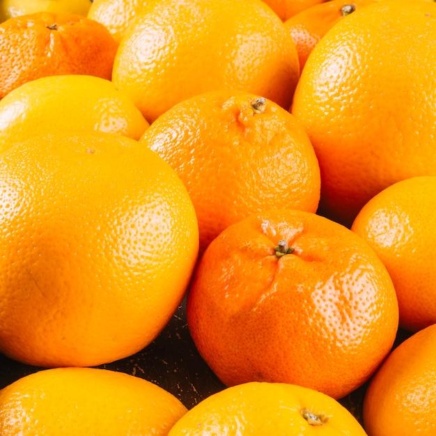 Arance e mandarini di close-up