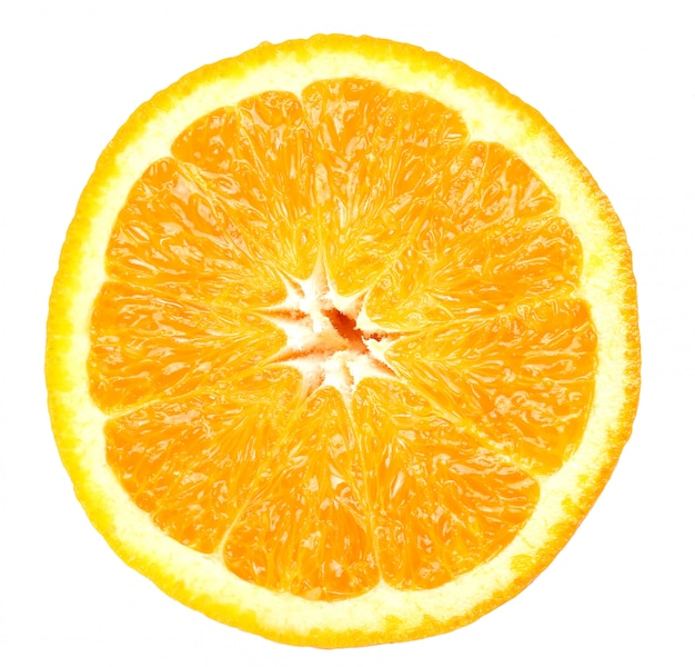 Arancia su bianco su bianco