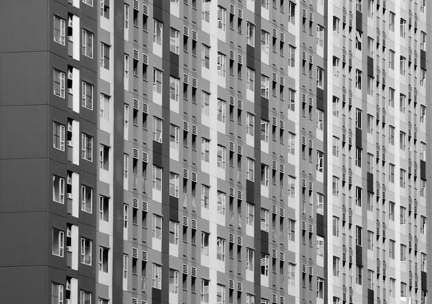 Architettonico della finestra che sviluppa stile moderno - reticolo in bianco e nero