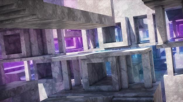 Architettura astratta moderna. strutture in cemento armato.