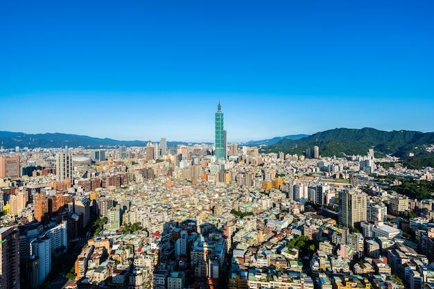 Architettura che costruisce la città di taipeh
