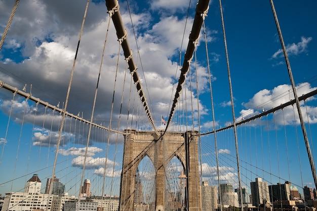 Architettura di new york del ponte di brooklyn