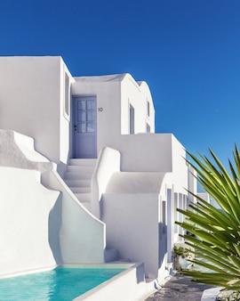 Architettura tradizionale a santorini, in grecia.