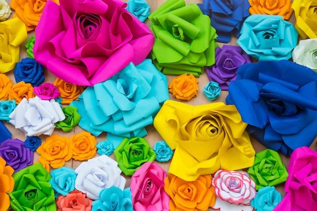 Arcobaleno astratto della carta da parati fondo variopinto di rose flower paper