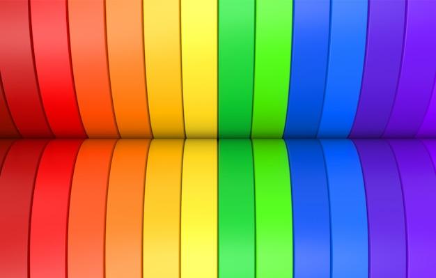 Arcobaleno colorato sfondo pannello curva lgbt