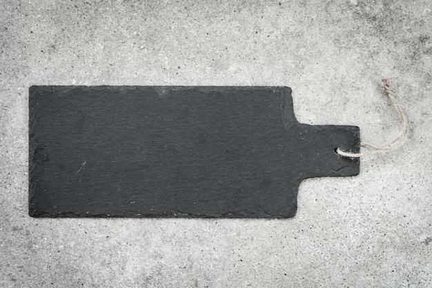 Ardesia su sfondo di pietra nera