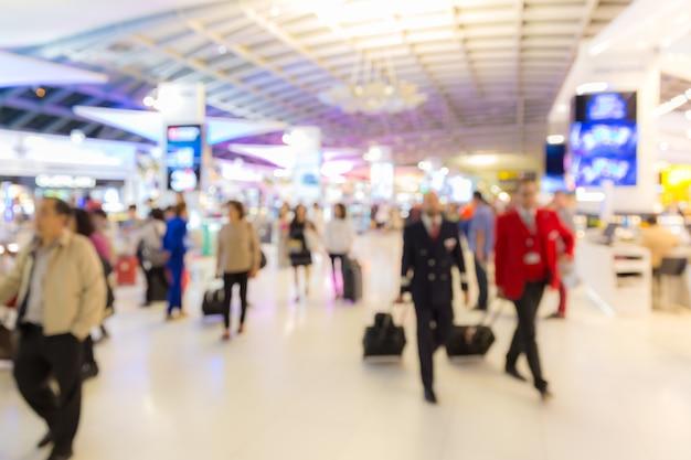 Area di imbarco aeroporto sfondo sfocato