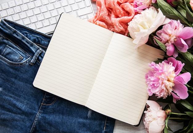 Area di lavoro di blogger o libero professionista