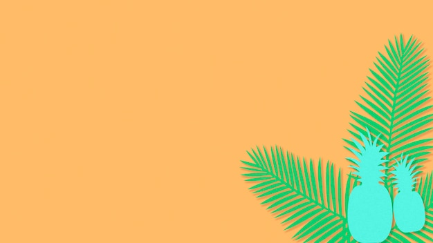 Areca palm ananas