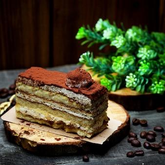 Arioso pan di spagna ricoperto di cacao